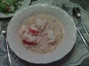 ... creamy lobster risotto.