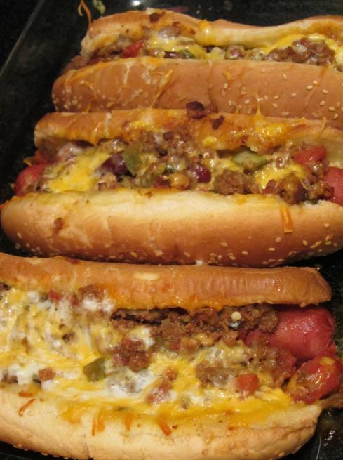 oven baked hotdogs!
