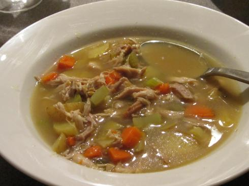 new years chix soup
