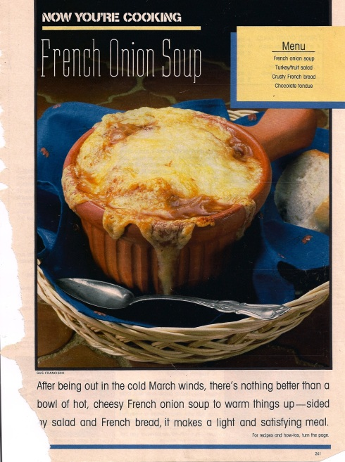 march onion soup