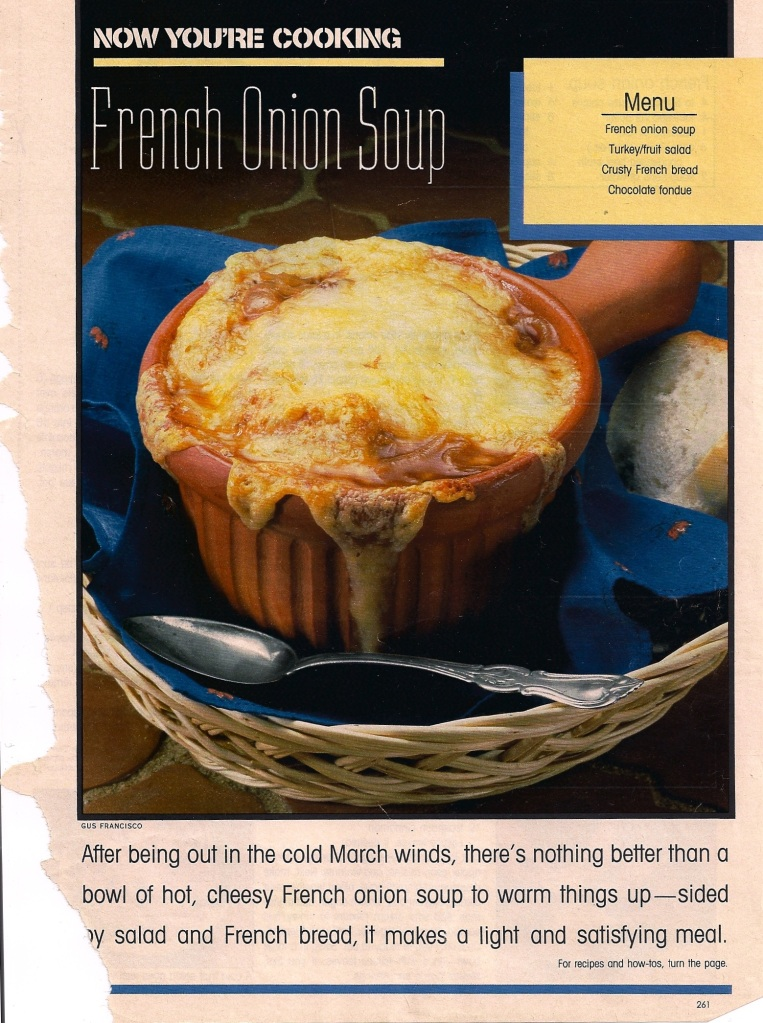 march onion soup