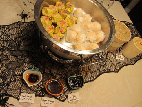 halloween table dimsum