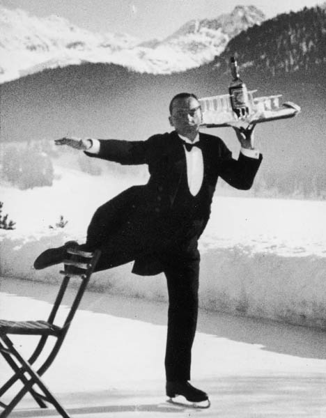 Skating Waiter