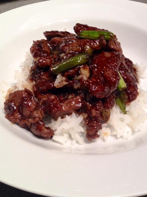 mongolian beef plate